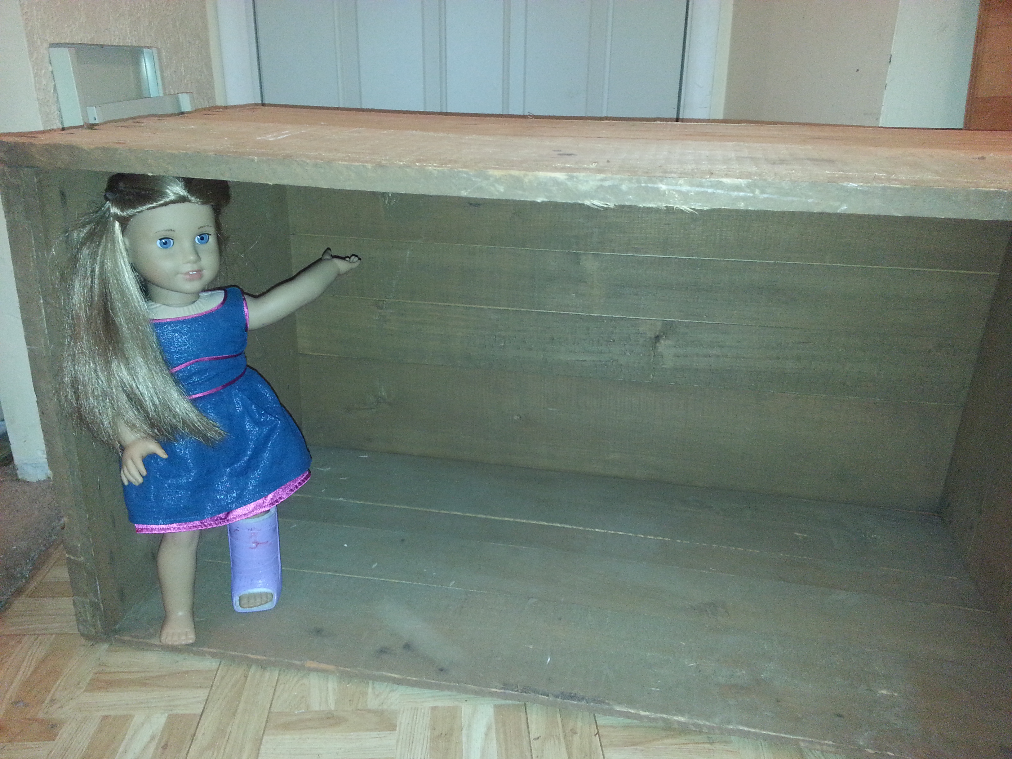 american girl dollhouse made from salvaged crates mommy projects